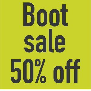 Boot Sale 50% off!